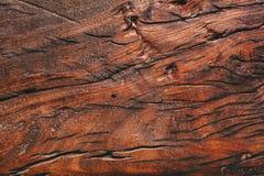Scrittorio di legno dettagliato di marrone di struttura di altezza vecchio fotografia stock libera da diritti