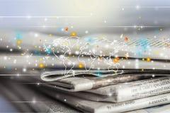 Scrittorio di media Immagini Stock