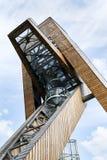Scrittorio di osservazione sulla bella torre dell'allerta di Salas, Moravia, repubblica Ceca, Immagini Stock Libere da Diritti