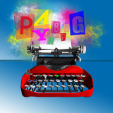 Scrittura colorata Fotografia Stock