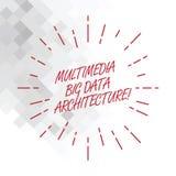 Scrittura concettuale della mano che mostra architettura di Big Data di multimedia Foto di affari che montra la rete online di te illustrazione vettoriale