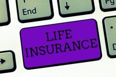 Scrittura concettuale della mano che mostra assicurazione sulla vita Pagamento del testo della foto di affari della sepoltura di  fotografia stock