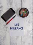 Scrittura concettuale della mano che mostra assicurazione sulla vita Pagamento del testo della foto di affari della sepoltura di  fotografie stock libere da diritti