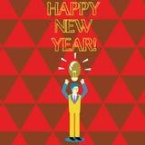 Scrittura concettuale della mano che mostra buon anno Natale allegro di congratulazioni del testo della foto di affari ognuno ini illustrazione vettoriale