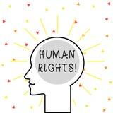 Scrittura concettuale della mano che mostra i diritti di Huanalysis Foto di affari che montra l'uguaglianza di combattimento per  royalty illustrazione gratis