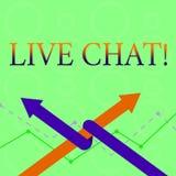 Scrittura concettuale della mano che mostra Live Chat La conversazione in tempo reale di media del testo della foto di affari onl illustrazione vettoriale