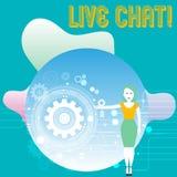 Scrittura concettuale della mano che mostra Live Chat La conversazione in tempo reale di media del testo della foto di affari onl royalty illustrazione gratis