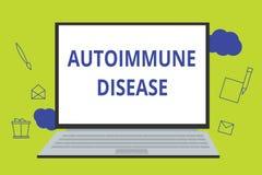 Scrittura concettuale della mano che mostra malattia autoimmune Foto di affari che montra gli anticorpi insoliti che mirano al lo illustrazione di stock