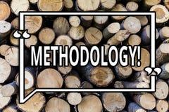 Scrittura concettuale della mano che mostra metodologia Foto di affari che montra sistema dei metodi impiegati ad uno studio o ai immagini stock libere da diritti