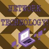 Scrittura concettuale della mano che mostra tecnologia di rete Testo della foto di affari trasmettere i dati digitalmente con inf illustrazione vettoriale