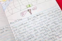 Scrittura del bambino Immagini Stock Libere da Diritti