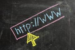 Scrittura del gesso - Web site visualizzante Fotografia Stock