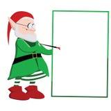 Scrittura dell'elfo di Natale su un bordo in bianco Royalty Illustrazione gratis