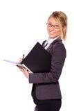 Scrittura della donna di affari Immagine Stock