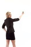 Scrittura della donna di affari Fotografia Stock
