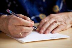Scrittura della lettera Fotografia Stock
