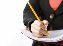 Scrittura della mano della donna fotografie stock libere da diritti