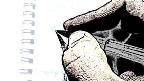 Scrittura della mano di tiraggio Fotografia Stock