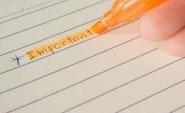 Scrittura della mano sul documento Fotografie Stock Libere da Diritti
