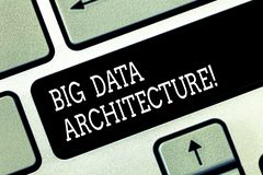 Scrittura della nota che mostra architettura di Big Data Montrare della foto di affari destinato per trattare l'analisi di dati t fotografia stock