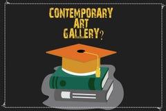 Scrittura della nota che mostra Art Galleryquestion contemporaneo Foto di affari che montra la galleria commerciale del forprofit royalty illustrazione gratis
