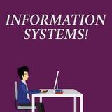 Scrittura della nota che mostra i sistemi di informazione Foto di affari che montra studio sui sistemi con un riferimento esatto  illustrazione di stock