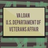 Scrittura della nota che mostra prestito U di Va S Departament degli affari dei veterani Foto di affari che montra l'aiuto econom illustrazione vettoriale