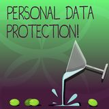 Scrittura della nota che mostra protezione dei dati personale Foto di affari che montra conservazione per assicurare i dati demon royalty illustrazione gratis