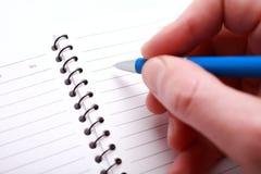 Scrittura della penna Fotografie Stock Libere da Diritti
