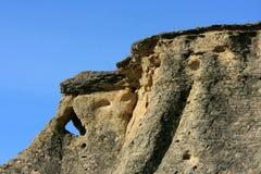 scrittura della pietra dello sbarco di formazioni Fotografia Stock Libera da Diritti