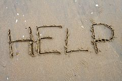 Scrittura della sabbia Immagini Stock Libere da Diritti