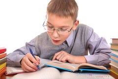Scrittura dello scolaro Fotografie Stock Libere da Diritti