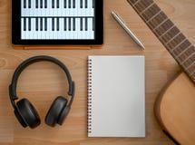 Scrittura di canzone fotografie stock libere da diritti