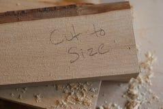 Scrittura di legno tagliata alla dimensione Immagine Stock