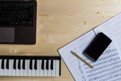 Scrittura di musica Fotografie Stock