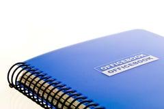 Scrittura-libro dell'ufficio Fotografia Stock