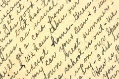 Scrittura a mano Fotografia Stock Libera da Diritti