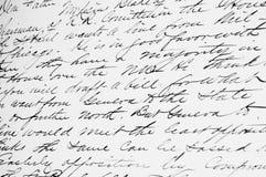 Scrittura a mano antiquata Fotografia Stock