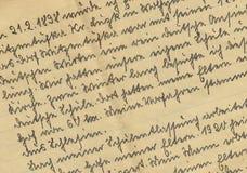 Scrittura a mano dell'annata Immagine Stock