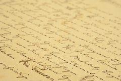 Scrittura a mano dell'annata Fotografie Stock Libere da Diritti
