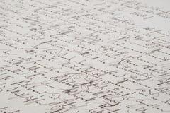 Scrittura a mano dell'annata Immagini Stock
