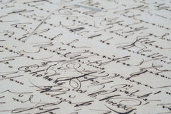 Scrittura a mano dell'annata Fotografia Stock Libera da Diritti