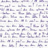 Scrittura a mano sul reticolo senza giunte di carta Immagine Stock Libera da Diritti