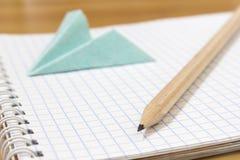 Scrittura-materiali della scuola Fotografia Stock