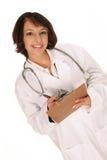 Scrittura medica dell'operaio Immagine Stock
