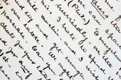 Scrittura a penna ed inchiostro Fotografia Stock Libera da Diritti