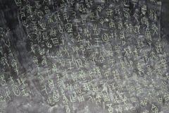 Scritture antiche cinesi Fotografia Stock