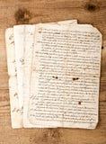 Scritture antiche della mano Fotografia Stock