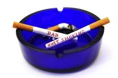 scritture sulle sigarette Fotografia Stock Libera da Diritti