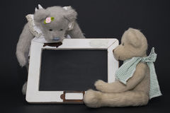 Scriva con l'orsacchiotto Fotografie Stock